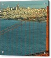 Golden Gate Bridge And San Francisco Skyline Acrylic Print