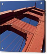 Golden Gate Bridge At An Angle Acrylic Print