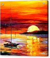 Golden Gate Bridge By The Sunset Acrylic Print