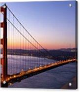 Golden Gate Bridge During Sunrise Acrylic Print