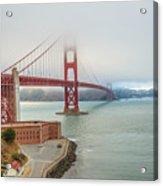 Golden Gate Bridge Fort Point Acrylic Print