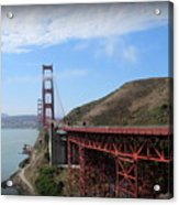 Golden Gate Bridge From The Scenic Lookout Point Acrylic Print