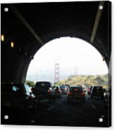 Golden Gate Bridge From Tunnel Acrylic Print