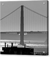 Golden Gate Bridge In Its Beauty At Sunset Acrylic Print