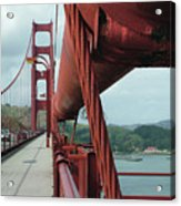 Golden Gate Bridge Low Point Of Cable Acrylic Print