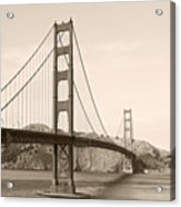 Golden Gate Bridge San Francisco - A Thirty-five Million Dollar Steel Harp Acrylic Print by Christine Till