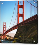 Golden Gate Bridge Sausalito Acrylic Print by Doug Sturgess