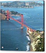 Golden Gate Bridge Acrylic Print by Stickney Design