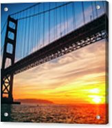 Golden Gate Bridge Sunset Acrylic Print