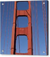 Golden Gate Bridge Tower Acrylic Print by Garry Gay