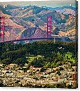 Golden Gate Bridge - Twin Peaks Acrylic Print