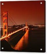 Golden Gate Evening Acrylic Print