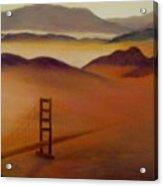 Golden Gate Fog Acrylic Print