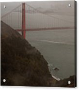 Golden Gate On A Grey Day Acrylic Print