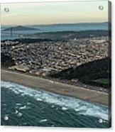 Golden Gate Park And Ocean Beach In San Francisco Acrylic Print