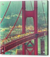 Golden Gate Portrait Acrylic Print