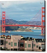 Golden Gate Acrylic Print by Stickney Design