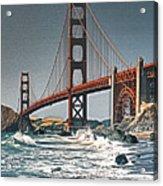 Golden Gate Surf Acrylic Print