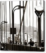 Golden Gate Suspension Acrylic Print