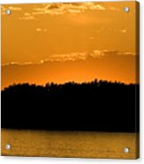 Golden Glow Sunset Acrylic Print