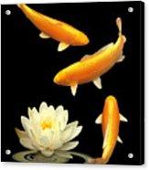 Golden Harmony Vertical Acrylic Print