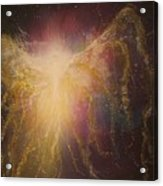 Golden Healing Angel Acrylic Print