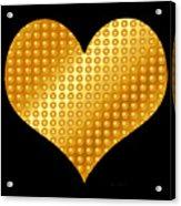 Golden Heart Black  Acrylic Print