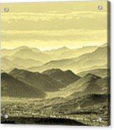 Golden Hills Of The Tonto Acrylic Print
