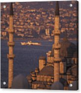 Golden Horn At Sunset From Suleymaniye Acrylic Print