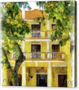 Golden Hotel Acrylic Print