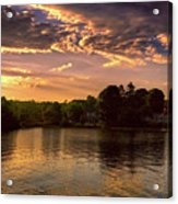 Golden Hour In New England Acrylic Print