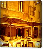Golden Italian Cafe Acrylic Print