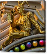 Golden Jester Acrylic Print