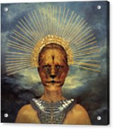 Golden Jungle Queen Acrylic Print