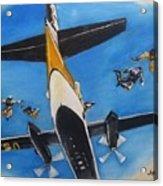 Golden Knights Army Parachute Team Acrylic Print
