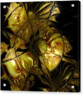 Golden Labyrinthine Acrylic Print