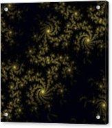 Golden Lace On Black Velvet Acrylic Print