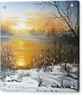 Golden Lake Sunrise  Acrylic Print