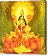 Golden Lakshmi Acrylic Print