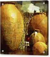 Golden Large Fountain Urns Acrylic Print