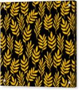 Golden Leaf Pattern Acrylic Print