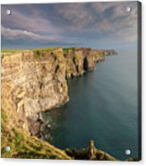 Golden Light At The Cliffs Of Moher Acrylic Print