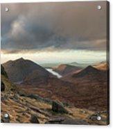 Golden Light Breaking On Slieve Bearnagh  Acrylic Print