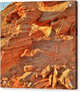 Golden Light On Valley Of Fire Arch Acrylic Print