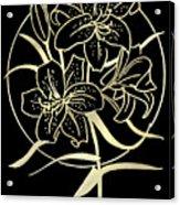 Golden Lilies Acrylic Print
