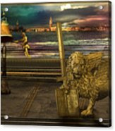 Golden Lion From Alternative Earth Acrylic Print