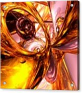 Golden Maelstrom Abstract Acrylic Print