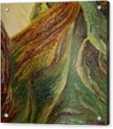 Golden Malachite Acrylic Print
