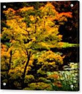 Golden Maple Acrylic Print