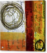 Golden Marks 5 Acrylic Print